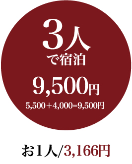 It is accommodation 8,000 yen in three people