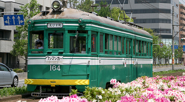 Osaka only streetcar
